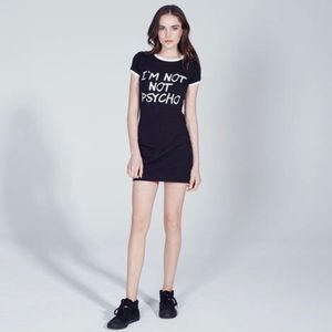 I'm not psycho t shirt dress XS